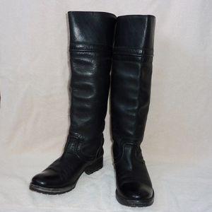 Black FRYE Melissa Trapunto Tall Resoled Boots 6.5